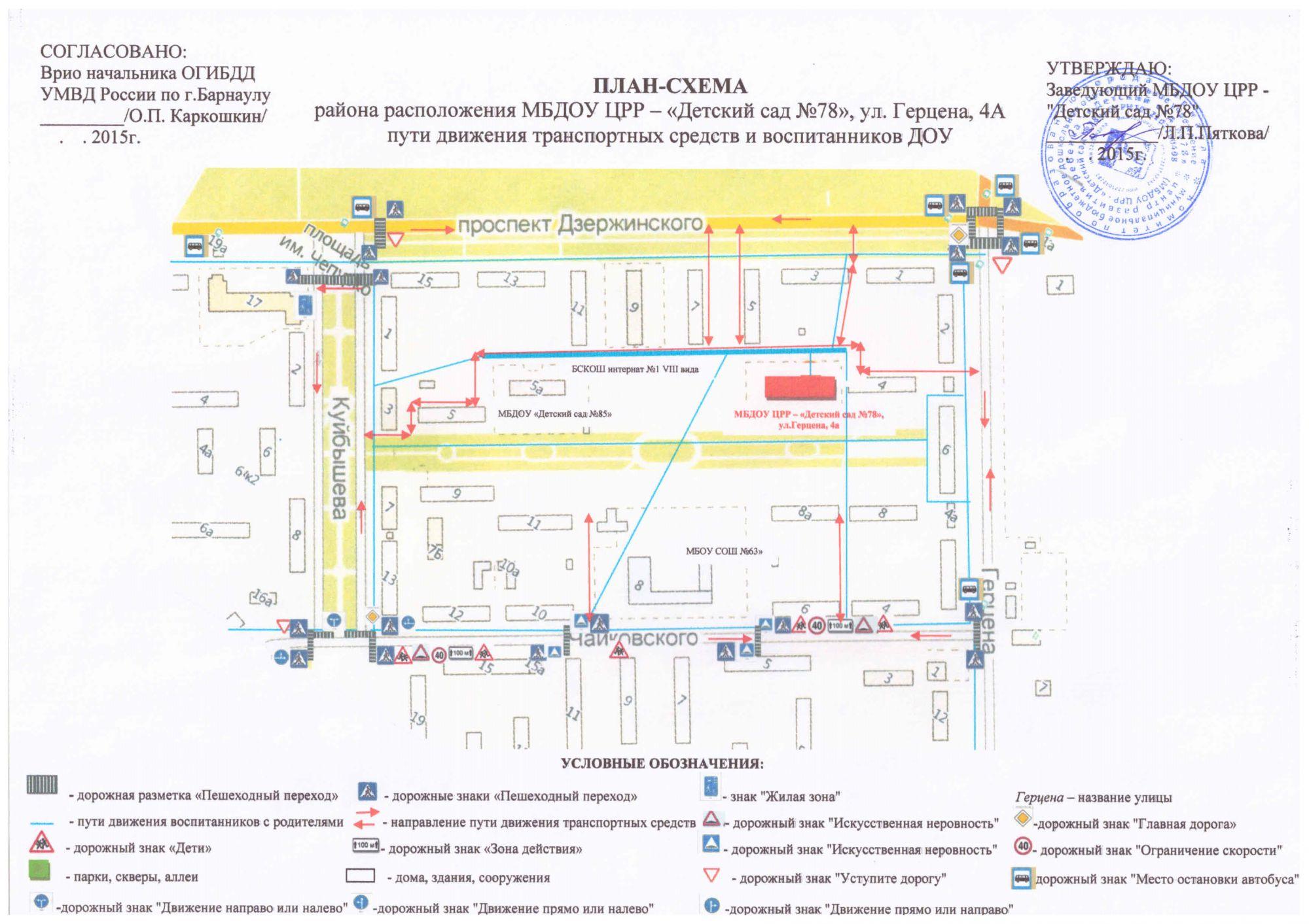 Схема расположения дорожных знаков на пешеходном переходе